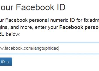 Hướng dẫn tìm ID Facebook của bạn 2