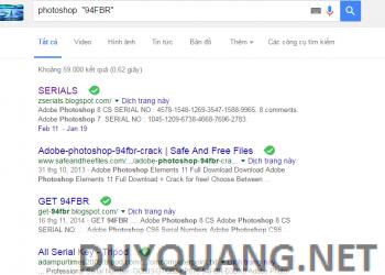 Thủ thuật tìm Key Bản quyền cho phần mềm bằng Google 2