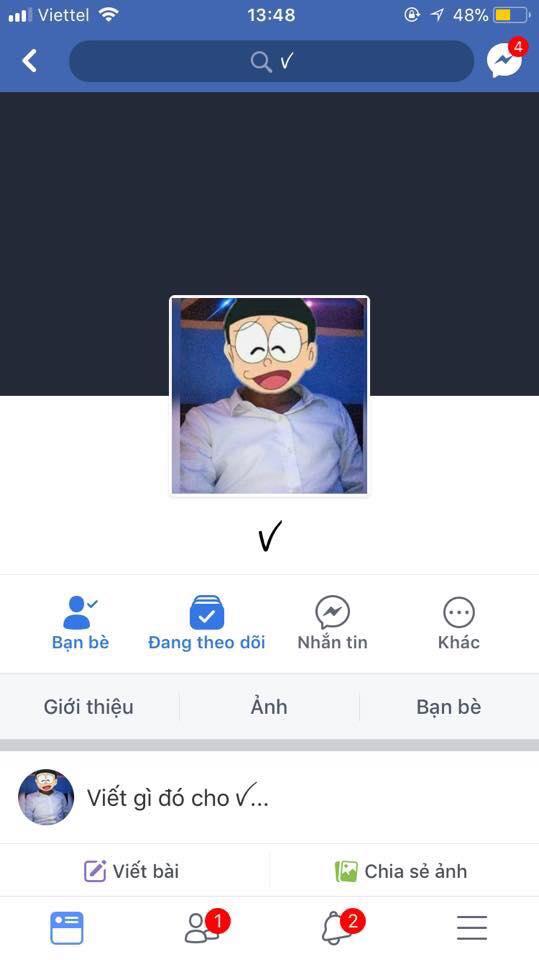 cách đặt tên dấu tick trên facebook 2018