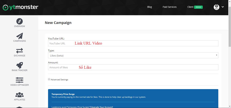 Hướng Dẫn Tăng View Like Subscribe cho Kênh Youtube