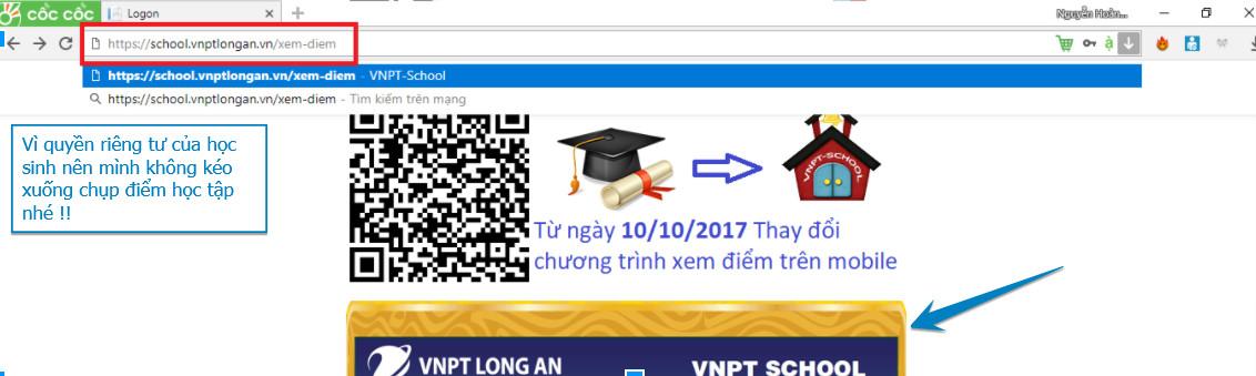 Phát hiện lỗi đăng nhập của Website VNPT School Long An