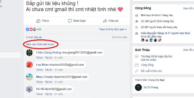 Cách lấy Email (Gmail) hàng loạt từ bình luận Facebook