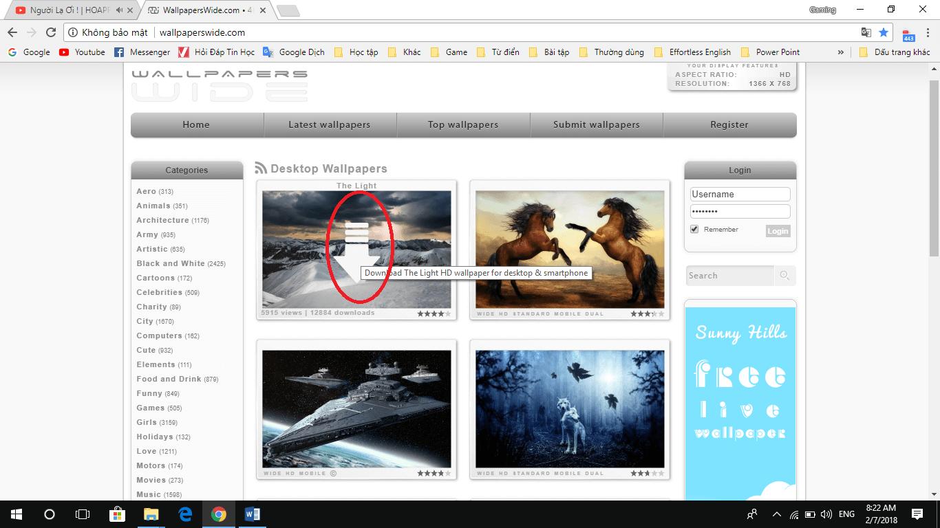 Giới thiệu website cung cấp hình ảnh HD miễn phí đủ thể loại