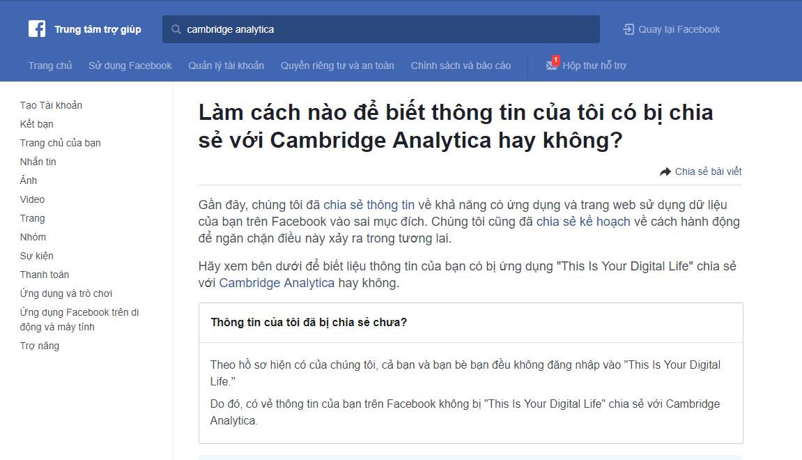 Cách kiểm tra Facebook của bạn có bị rò rỉ dữ liệu hay không