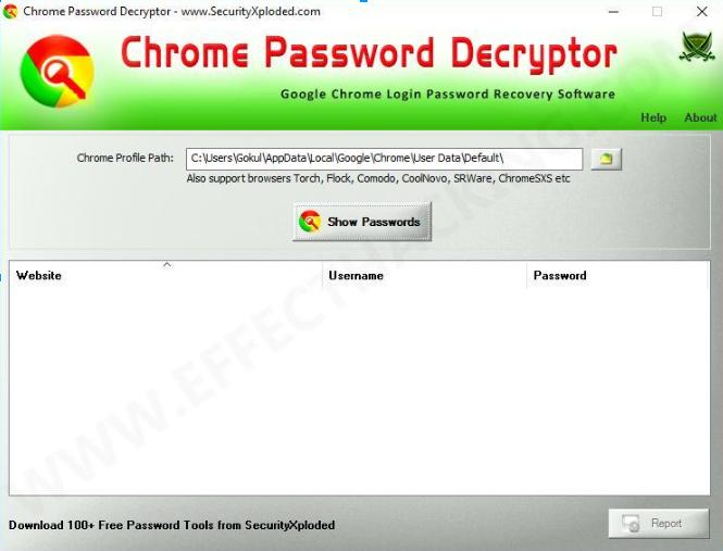 Công cụ giải mã và hack mật khẩu lưu trữ trên Google Chrome