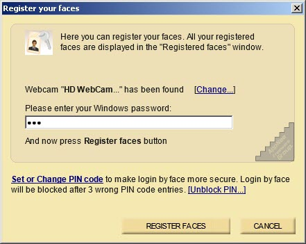 [v3.3] Rohos Face Logon – Automatic login when your face is recognized