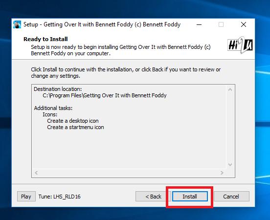 Nhấn Install để bắt đầu cài đặt vào máy