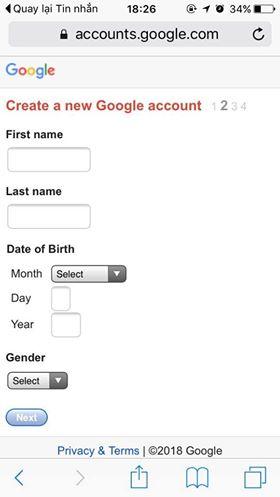 đăng ký nhiều tài khoản Gmail bằng 1 số điện thoại