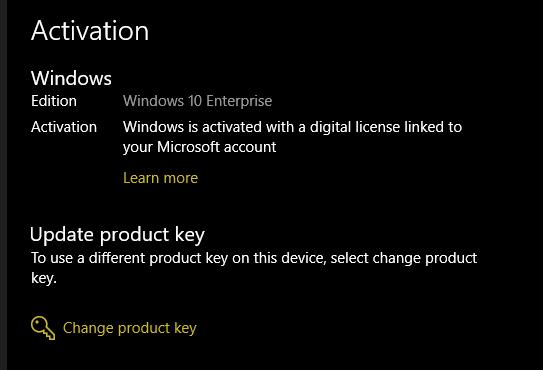 Kích hoạt trực tiếp bản quyền Windows 10
