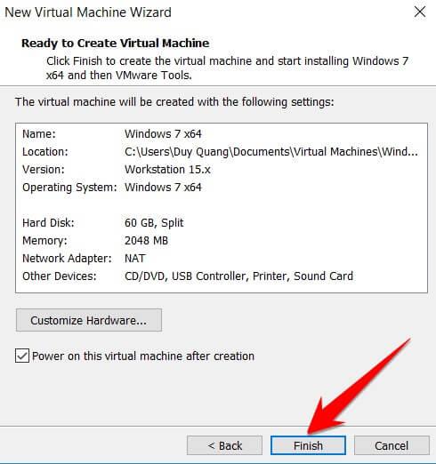 Cách tạo máy ảo trên VMWare Workstation 15 Pro