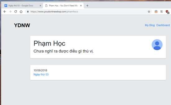 Hướng dẫn tự làm Blog mà không cần biết lập trình với Google Docs