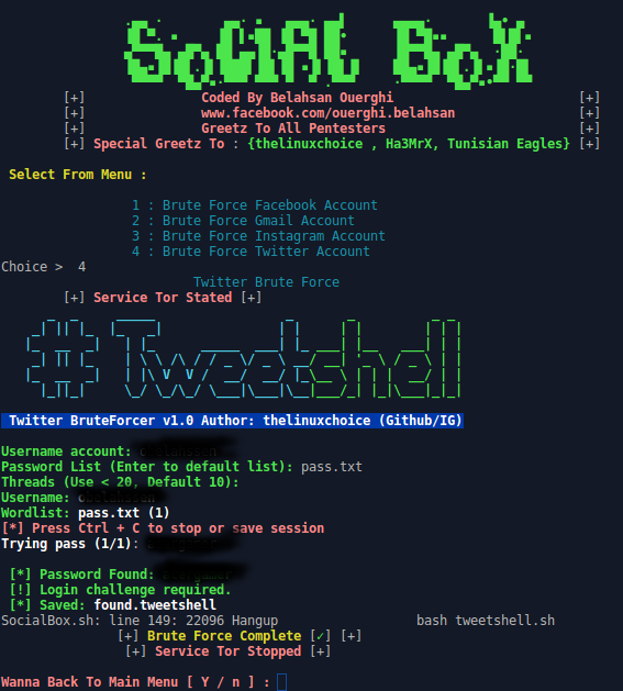 socialbox - hack mật khẩu Facebook, Gmail, Twitter...