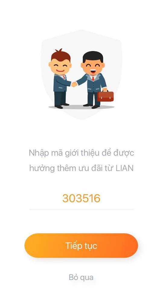 mã giới thiệu lian