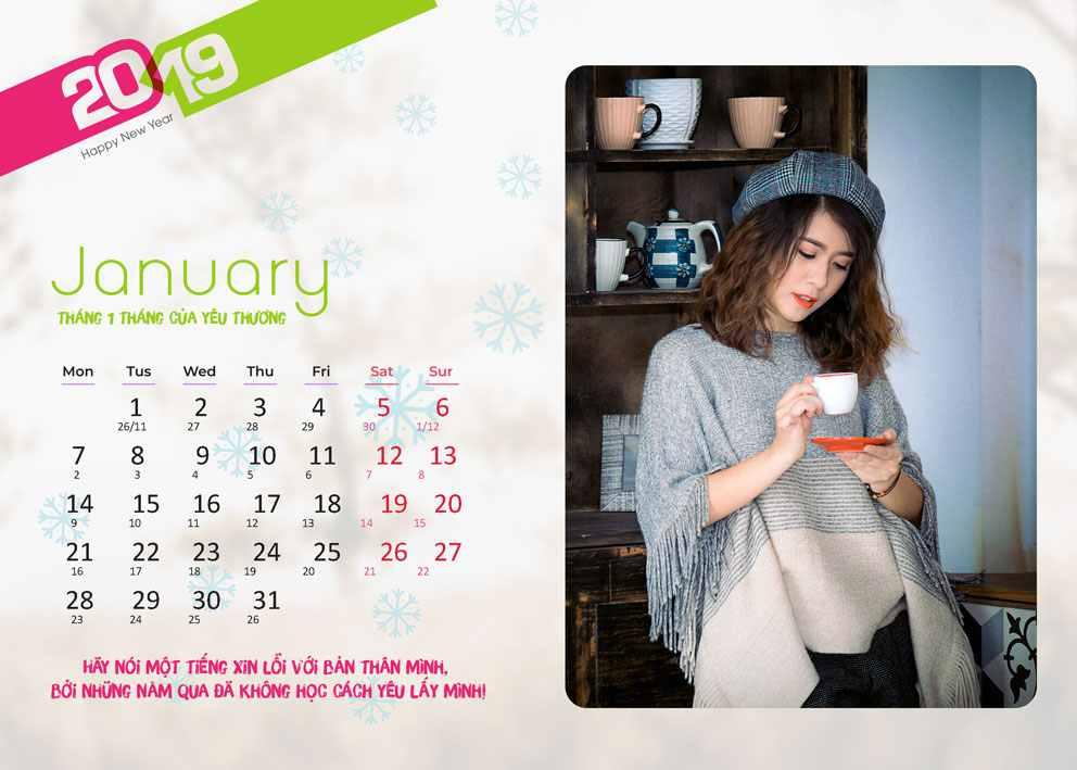 share miễn phí lịch tết 2019