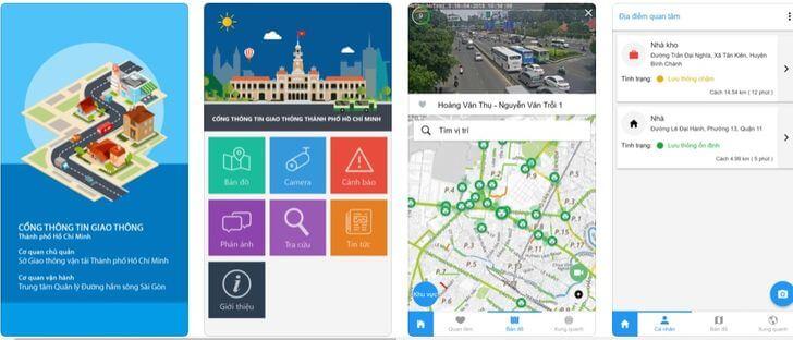 ứng dụng xem Camera giao thông trên điện thoại