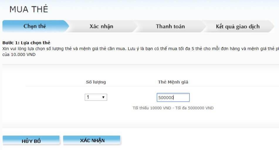 mua thẻ Visa ảo của Vietinbank