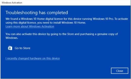 sửa lỗi windows tự động hạ cấp