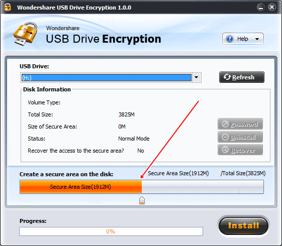 Download Wondershare USB Drive Encryption