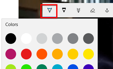 Chọn bút vẽ để vẽ lên video