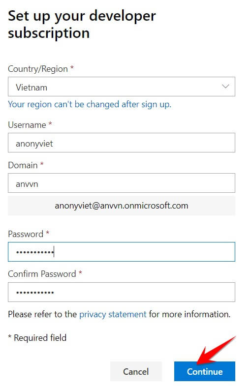 thông tin đăng ký