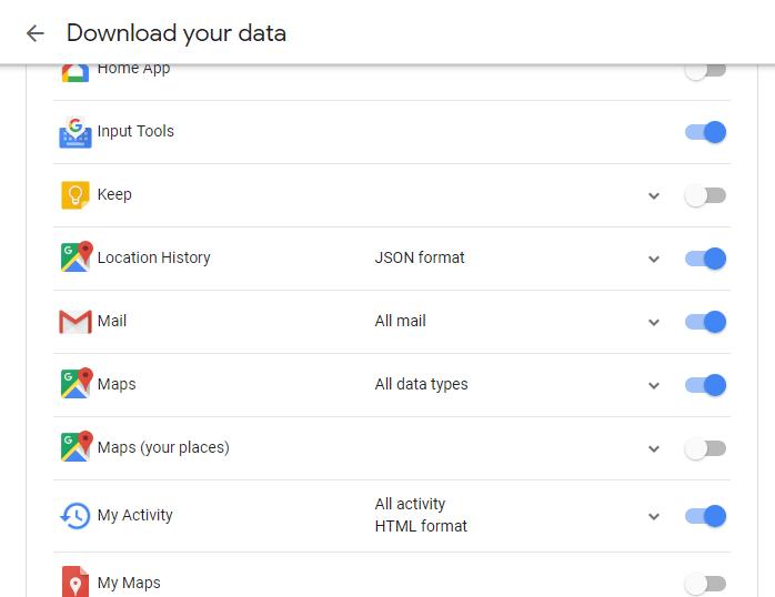 Chọn những ứng dụng cần tải xuống dữ liệu