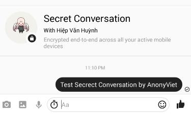 Mở cuộc trò chuyện Secret Conversations
