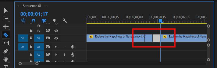 Cắt 2 đầu giữa 2 video cần chuyển