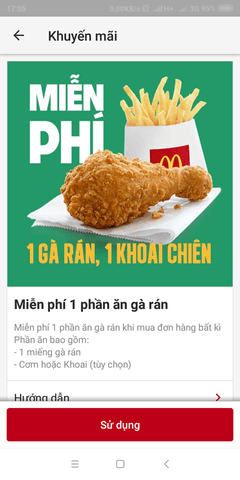 ăn gà rán miễn phí