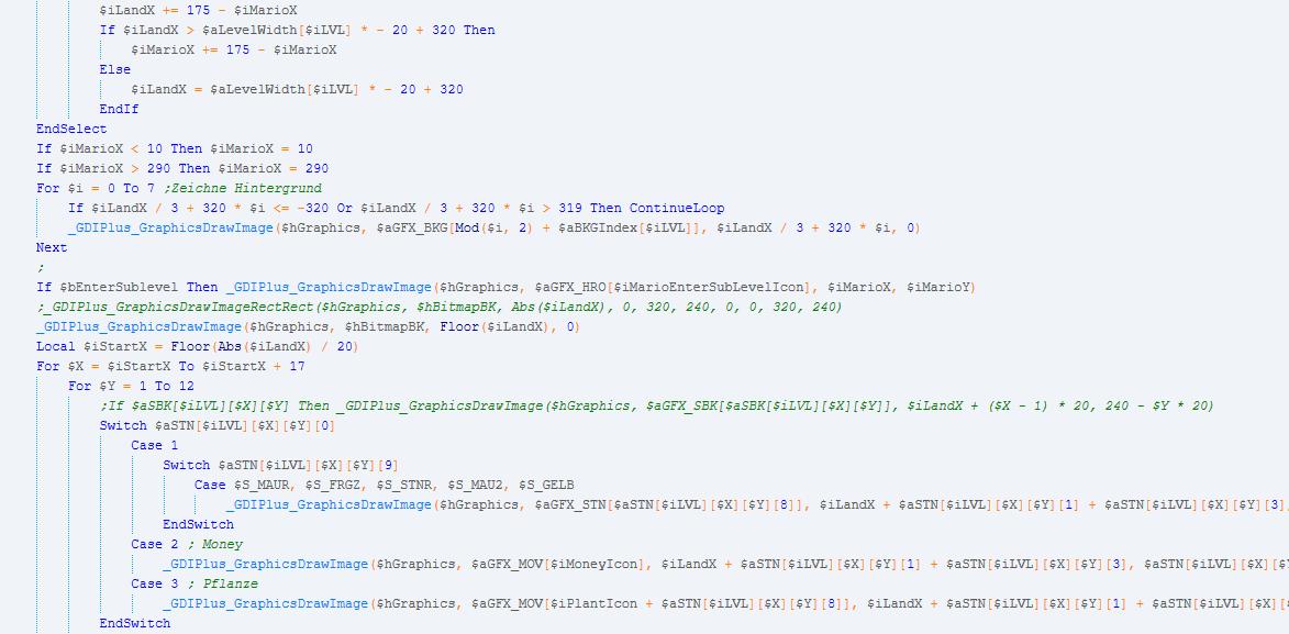 Demo mã nguồn game mario viết bằng autoit