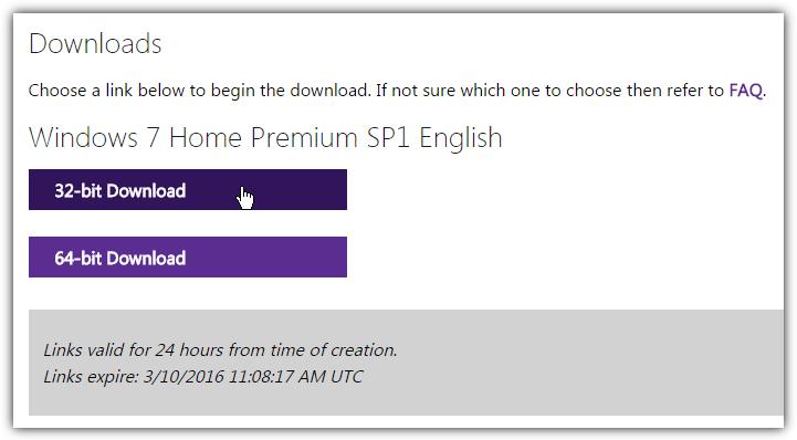 Download file ISO Windows 32bit hay 64 bit và click vào Confirm