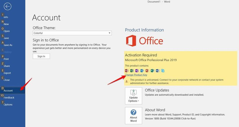 Download Office 2019 Volume và Active Office 2019
