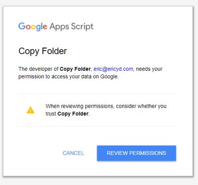 cấp quyền Copy toàn bộ Google Drive người khác
