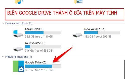 RaiDrive Biến Google Drive thành ổ đĩa mạng