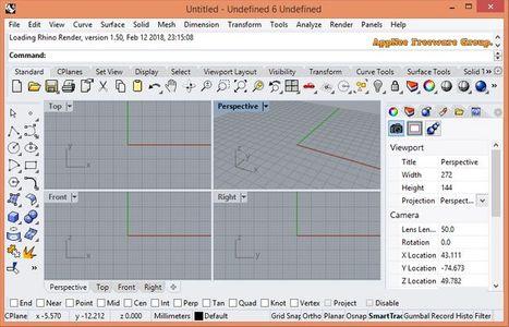 Rhinoceros 6.15 Full Key - Phần mềm thiết kế và in 3D chất lượng cao