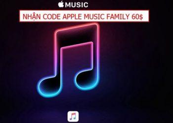nhận Code Apple Music 4 tháng trị giá 59.96$/tháng
