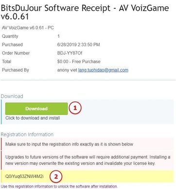 License Key của Av VozGame v6