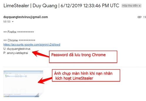 Download Keylogger LimeStealer v 01 - Đánh cắp Password