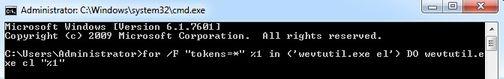 Xóa tất cả Event Logs trên Windows bằng cmd
