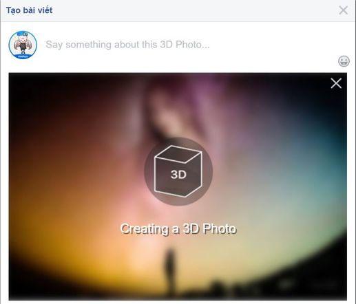 cùng lúc Upload 2 tấm hình để tạo ảnh 3d trên fb