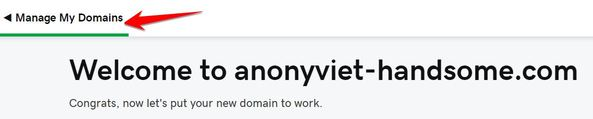 Manage My Domains