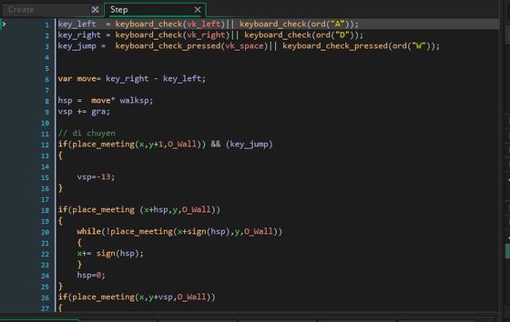 Ngôn ngữ lập trình của Game Maker Studio 2