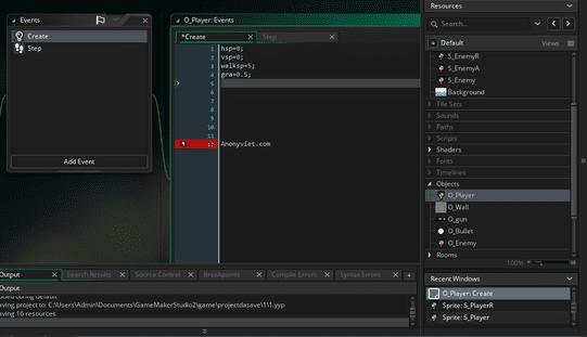 Coding game maker studio