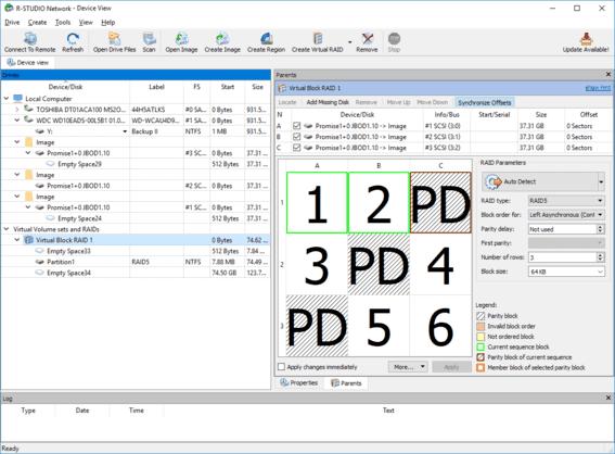 R-Studio khôi phục dữ liệu bị xóa, hỏng do Raid Server