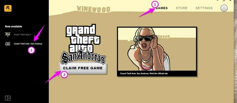 download bản quyền free Grand Theft Auto: San Andreas