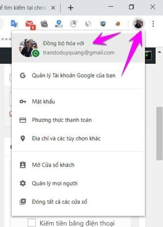 đăng nhập tải khoảng Google