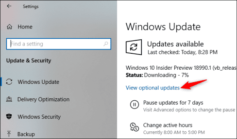 Windows Update 20H1