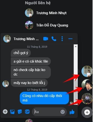 bong bóng chat messenger