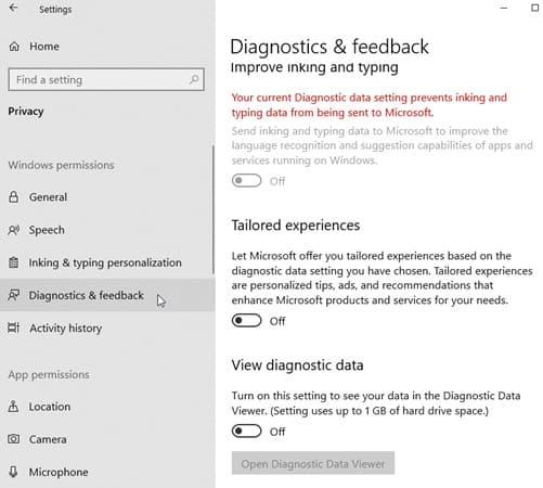 Chế độ chẩn đoán (Diagnostics)