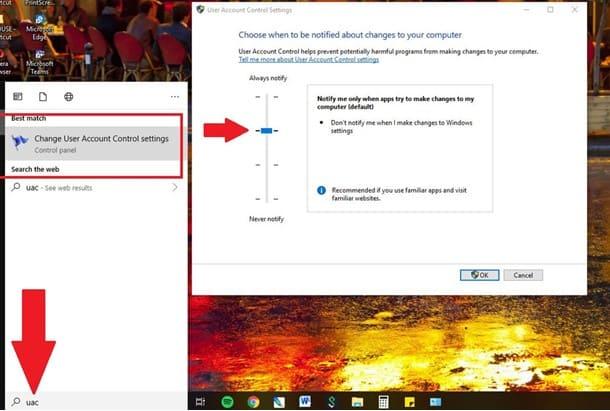 Tắt UAC (User Account Control)