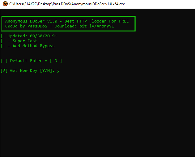 download Anonymous DDoSer v1.0